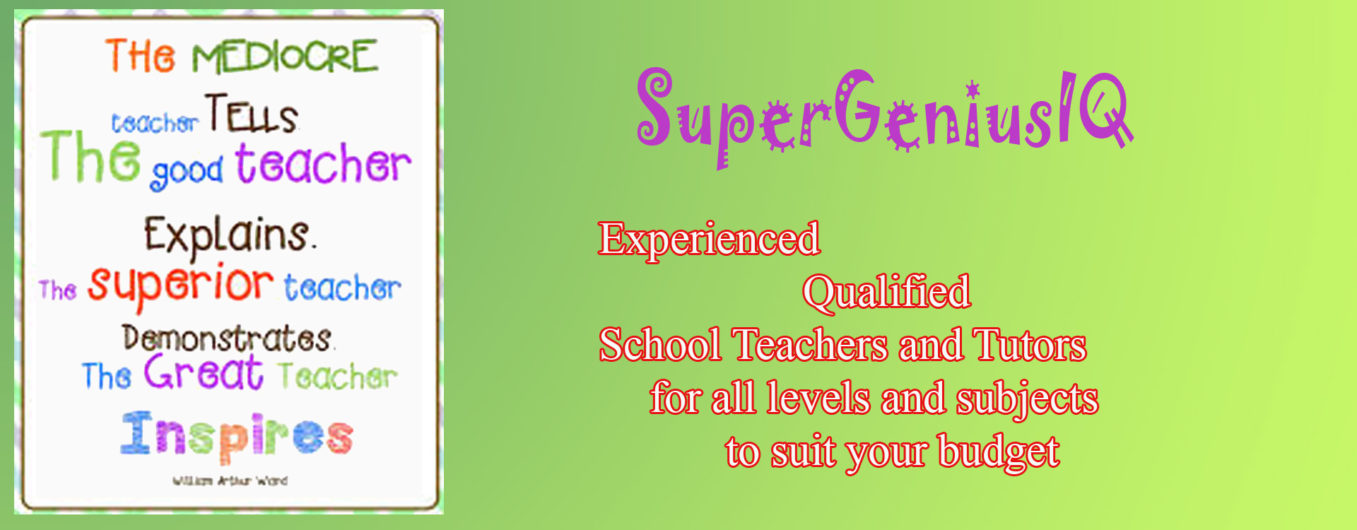 Qualified Teachers and Tutors in SuperGeniusIQ
